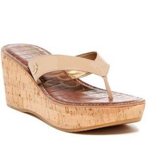 Sam Edelman Romy Wedge sandals - cream with cork